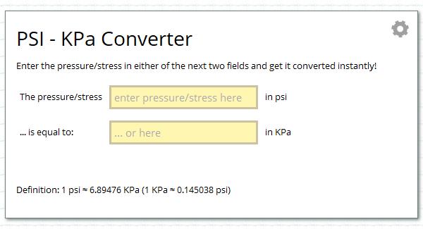 Kpa To Bar Conversion Table Choice Image Table